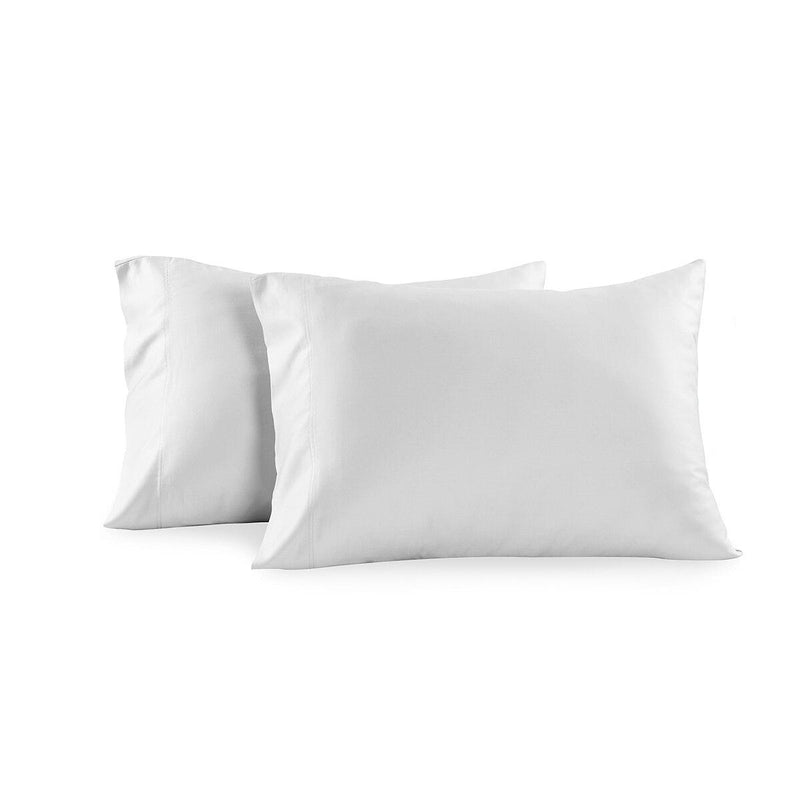 Luxury 1000 Thread Count Solid Pillowcases (Pair)-Royal Tradition-Standard Pillowcases Pair-White-Egyptian Linens