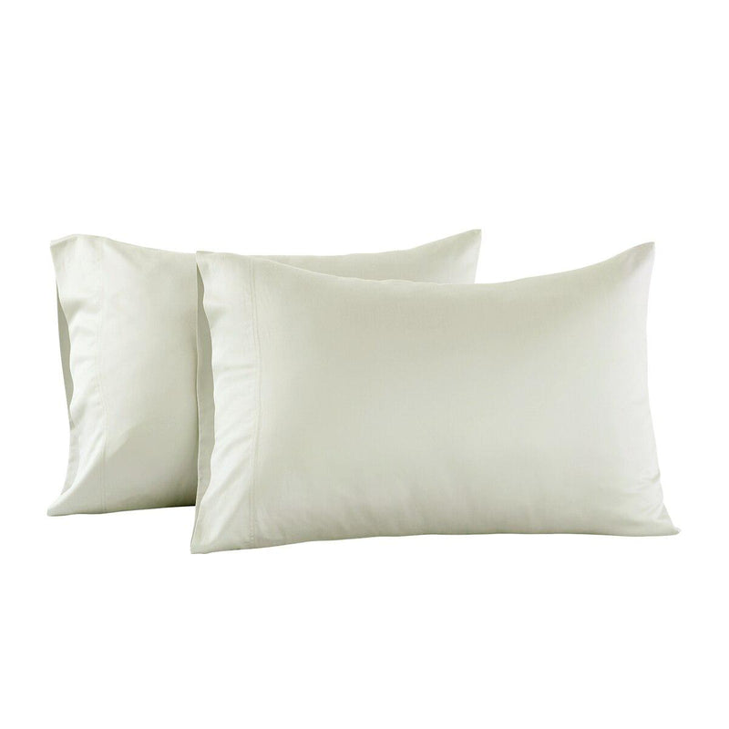 Luxury 1000 Thread Count Solid Pillowcases (Pair)-Royal Tradition-Standard Pillowcases Pair-Ivory-Egyptian Linens