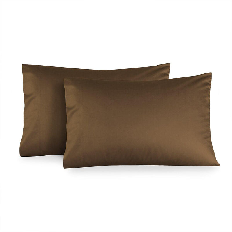 Luxury 1000 Thread Count Solid Pillowcases (Pair)-Royal Tradition-Standard Pillowcases Pair-Taupe-Egyptian Linens