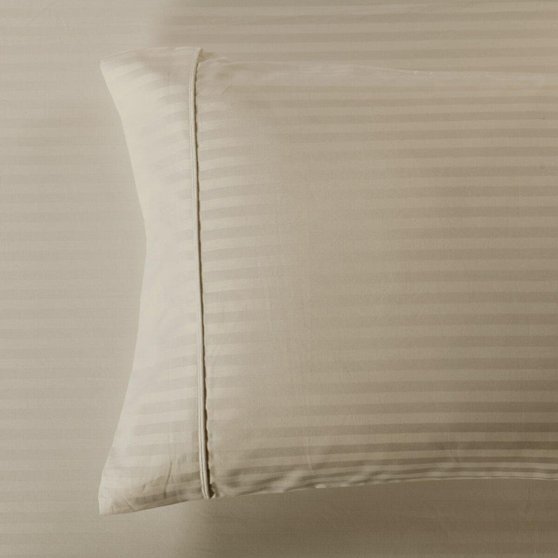 Easy Care 650 Stripe Pillowcases (Pair)-Royal Tradition-King Pillowcases Pair-Linen-Egyptian Linens