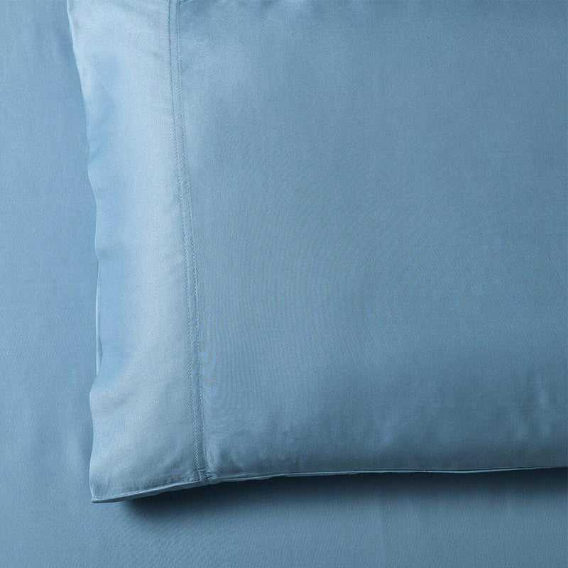 Silky Cotton, Bamboo-Cotton Blended 2 Pillowcases (Hybrid)-Royal Tradition-Standard Pillowcases Pair-Blue-Egyptian Linens