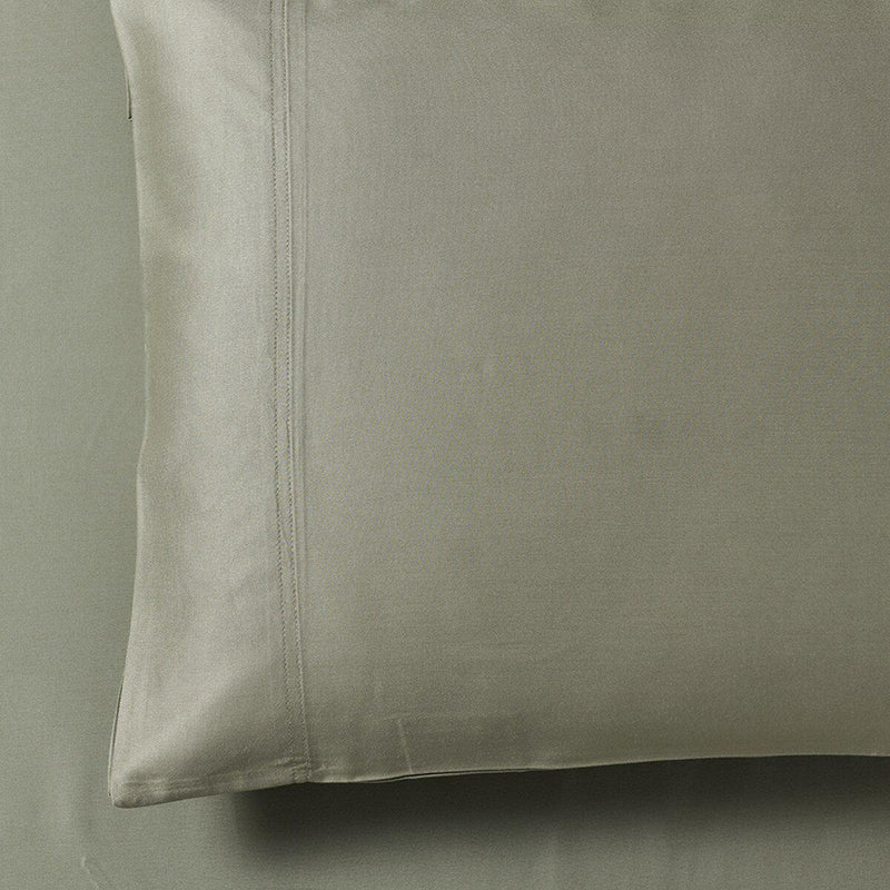 Silky Cotton, Bamboo-Cotton Blended 2 Pillowcases (Hybrid)-Royal Tradition-Standard Pillowcases Pair-Sage-Egyptian Linens