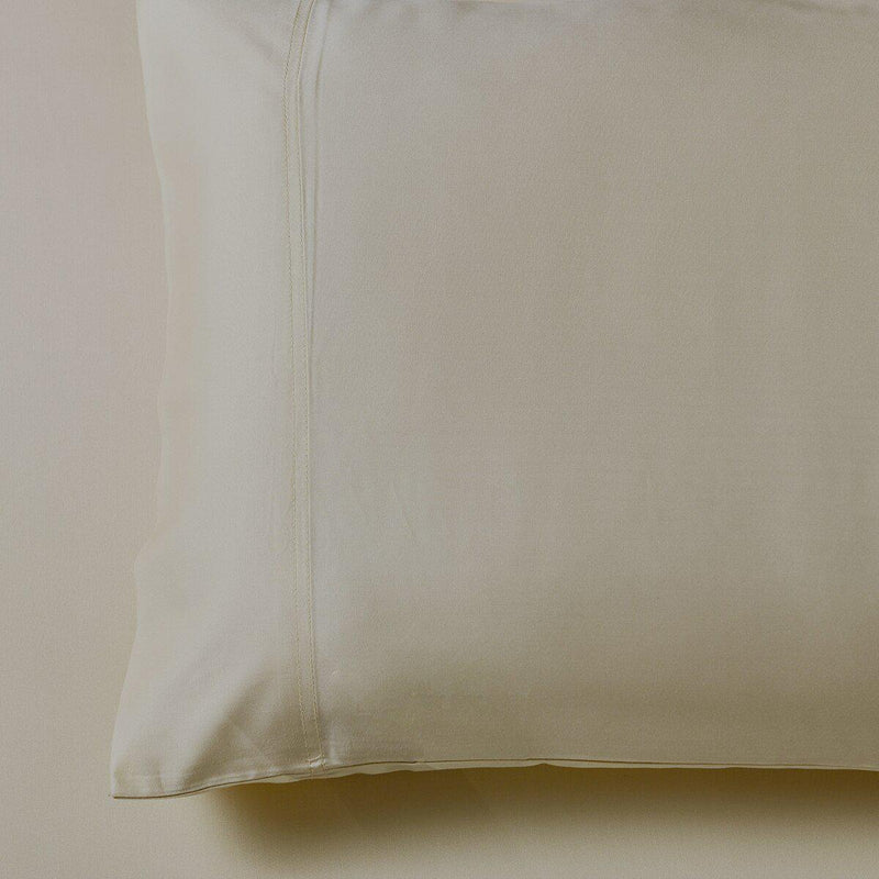Silky Cotton, Bamboo-Cotton Blended 2 Pillowcases (Hybrid)-Royal Tradition-Standard Pillowcases Pair-Sand-Egyptian Linens