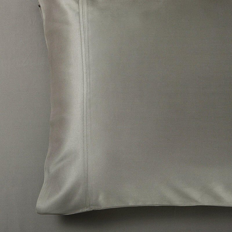 Silky Cotton, Bamboo-Cotton Blended 2 Pillowcases (Hybrid)-Royal Tradition-King Pillowcases Pair-Gray-Egyptian Linens