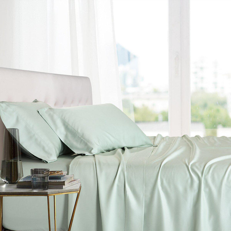 Split King Adjustable Bed Sheets - 100% Bamboo Viscose-Royal Tradition-Sea-Egyptian Linens