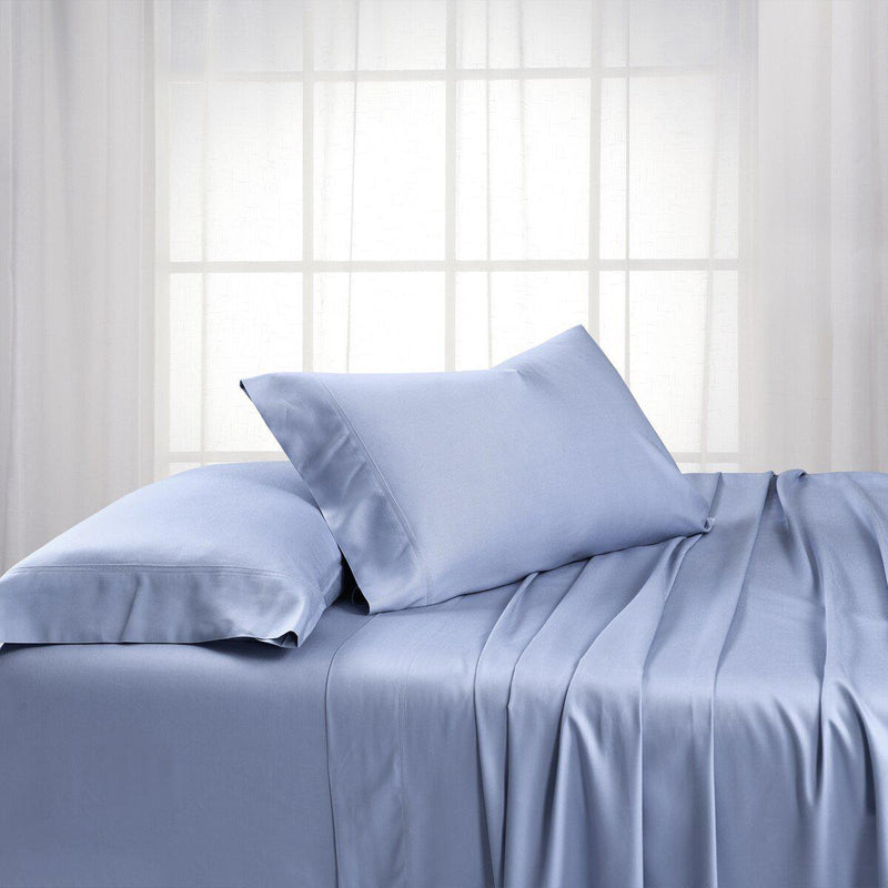 Split King Dual King Adjustable Bed Sheets Set - Bamboo Cotton (Hybrid)-Royal Tradition-Periwinkle-Egyptian Linens