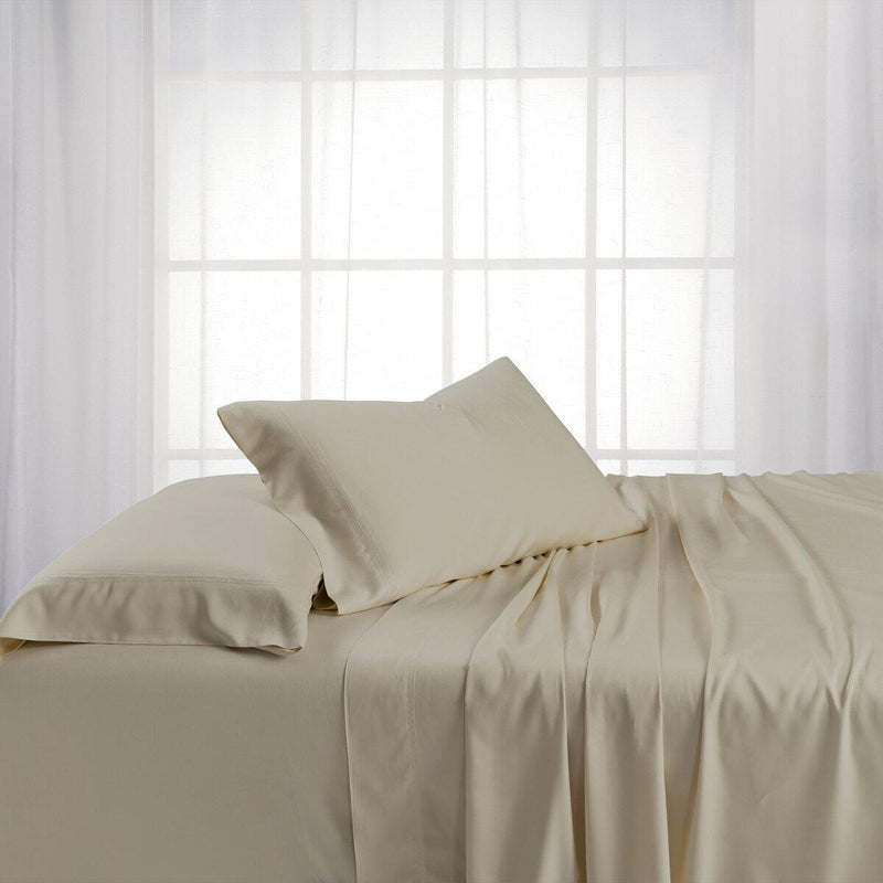 Split King Dual King Adjustable Bed Sheets Set - Bamboo Cotton (Hybrid)-Royal Tradition-Sand-Egyptian Linens