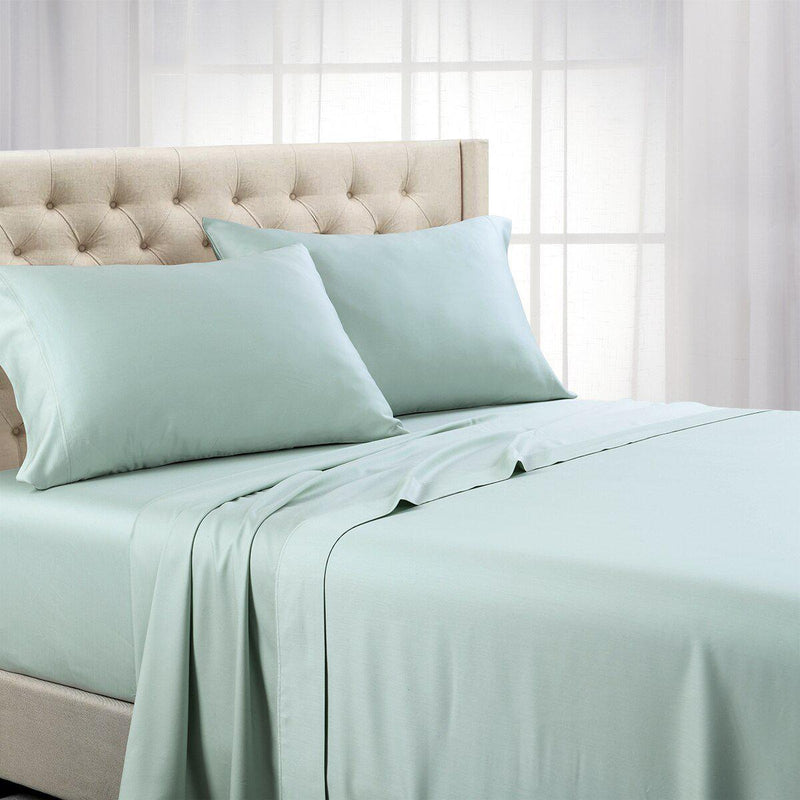 Split Top (Split Head) King Sheets 1000 Thread Count 100% Cotton Solid Sheet Sets-Royal Tradition-Sea-Egyptian Linens