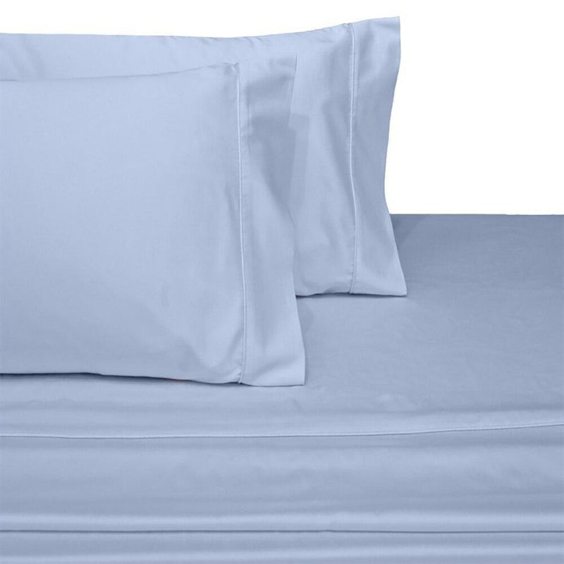 Split Top King Sheets 300 Thread Count 100% Cotton (Half Split Fitted)-Royal Tradition-Blue-Egyptian Linens