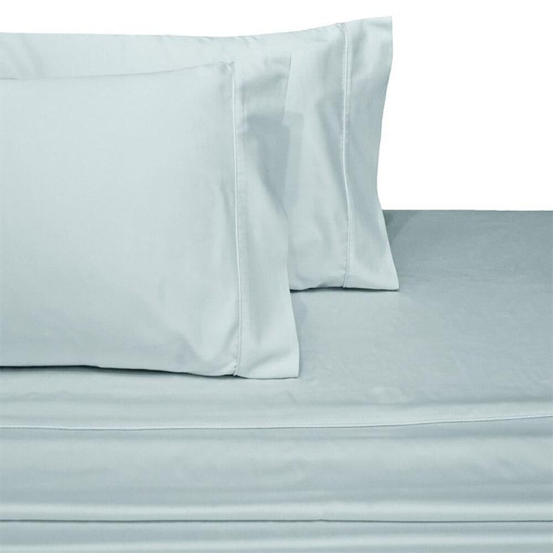 Split Top King Sheets 300 Thread Count 100% Cotton (Half Split Fitted)-Royal Tradition-Sea-Egyptian Linens