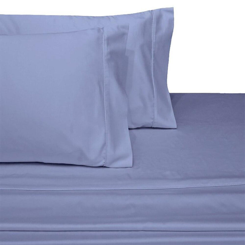 Split Top King Sheets 300 Thread Count 100% Cotton (Half Split Fitted)-Royal Tradition-Periwinkle-Egyptian Linens