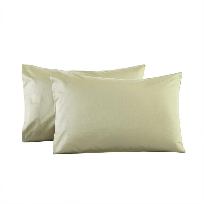 Luxury Heavyweight 1200 Thread Count Pillowcases (Pair)-Royal Tradition-Standard Pillowcases Pair-Sage-Egyptian Linens