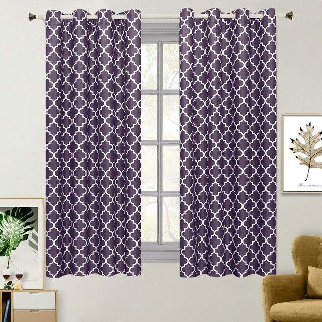 "Purple Meridian Room-Darkening Thermal Insulated Curtain Pair (Set of 2 Panels)-Royal Tradition-63""-Egyptian Linens"