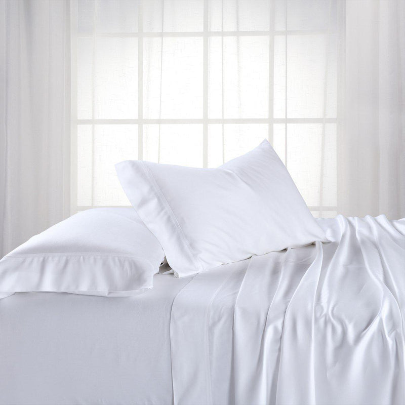 Cooling Bamboo 600 Sheet Set-Abripedic-Queen-White-Egyptian Linens