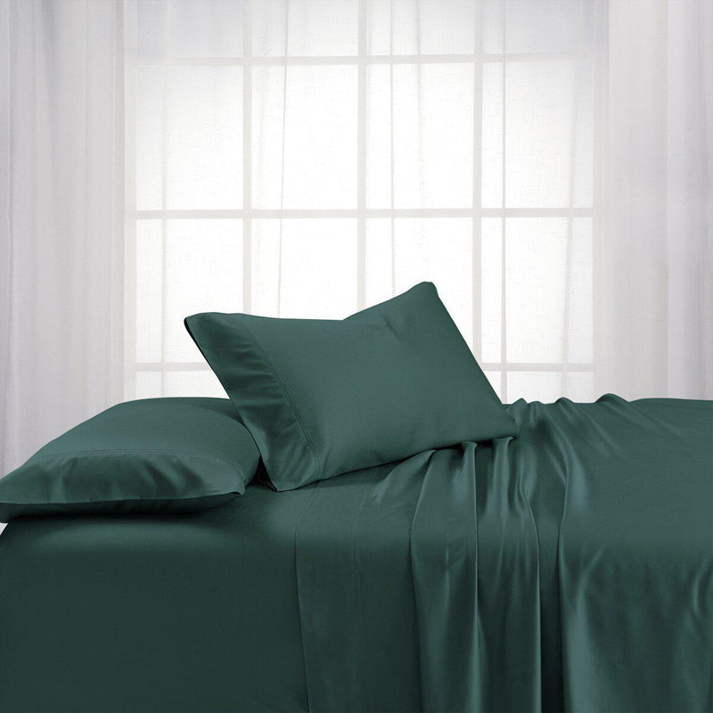 Cooling Bamboo 600 Sheet Set-Abripedic-Queen-Teal-Egyptian Linens