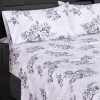 Flex Top (Top Split) King Sheet Set - Printed 300 Thread Count-Royal Tradition-Bally-Egyptian Linens