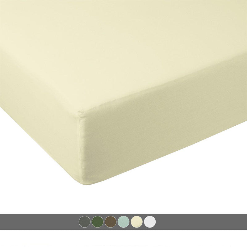 Queen Fitted Sheet Only - 100% Bamboo Viscose 600 Thread Count-Abripedic-Egyptian Linens