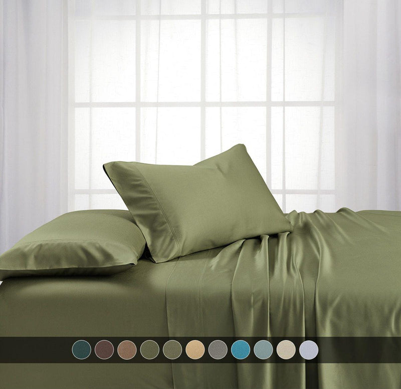 Cooling Bamboo 600 Sheet Set-Abripedic-Egyptian Linens