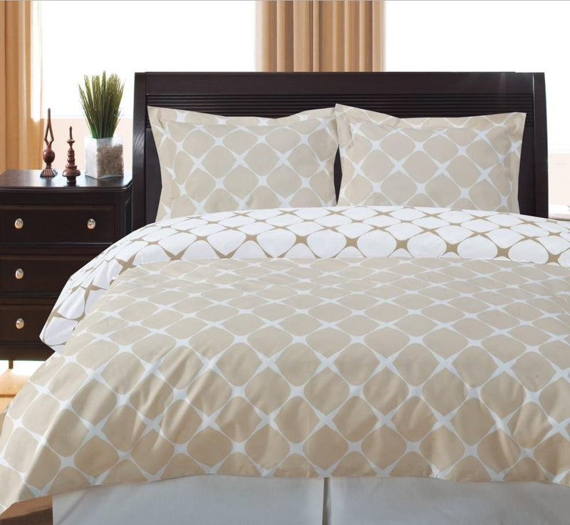Duvet Cover Set - Bloomingdale-Royal Tradition-Twin/TwinXL-Beige/Ivory-Egyptian Linens