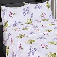 Flex Top (Top Split) King Sheet Set - Printed 300 Thread Count-Royal Tradition-Blossom-Egyptian Linens