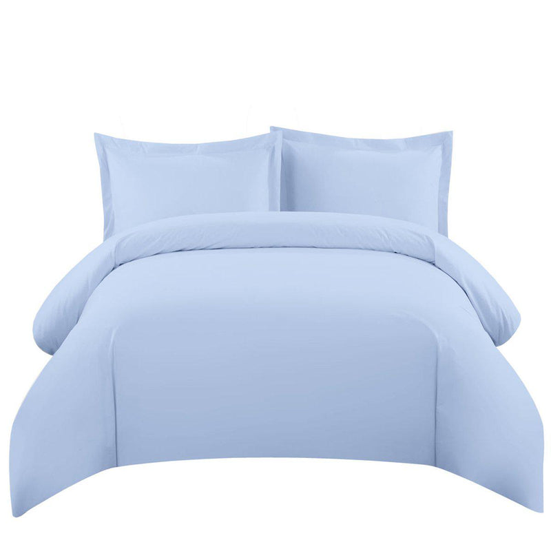 Duvet Cover Set 550 Thread Count-Royal Tradition-Twin/Twin XL-Blue-Egyptian Linens