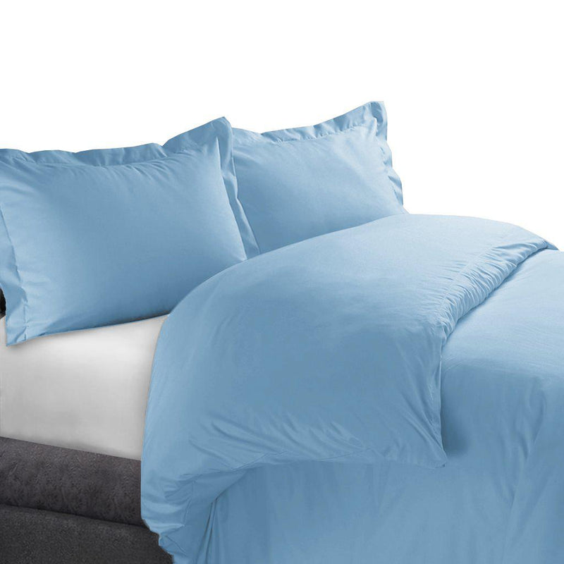 Duvet Cover Set 450 Thread Count-Royal Tradition-Full/Queen-Blue-Egyptian Linens