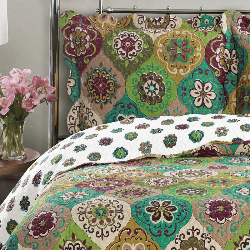 Bonnie Floral Printed Lightweight Oversize Quilt Sets-Royal Tradition-Egyptian Linens