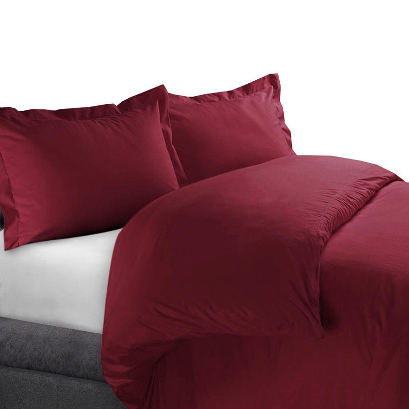 Duvet Cover Set 450 Thread Count-Royal Tradition-Full/Queen-Burgundy-Egyptian Linens
