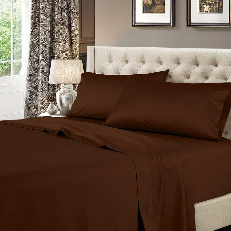 Attached Waterbed Sheet Set Solid 600 Thread Count