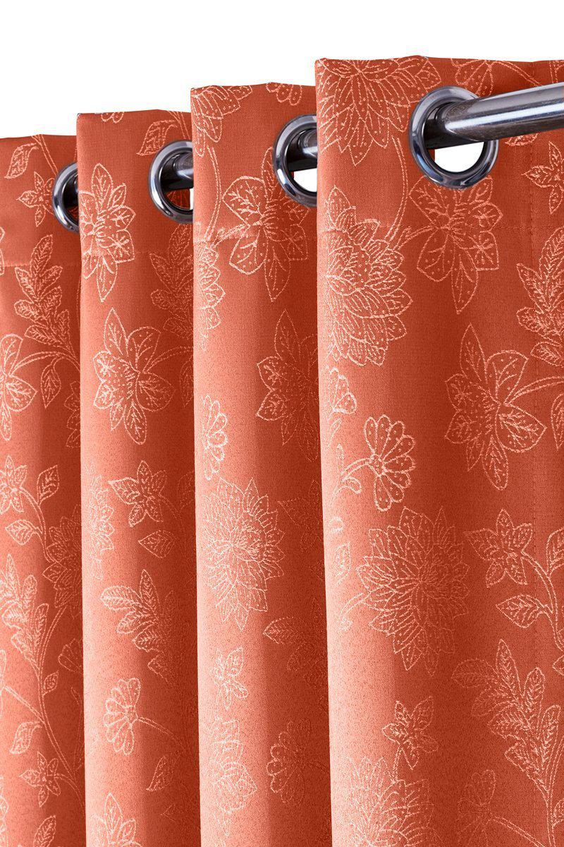 100% Blackout Curtain Panels Fannie - Woven Jacquard Triple Pass Thermal Insulated (Set of 2 Panels)-Royal Tradition-Egyptian Linens
