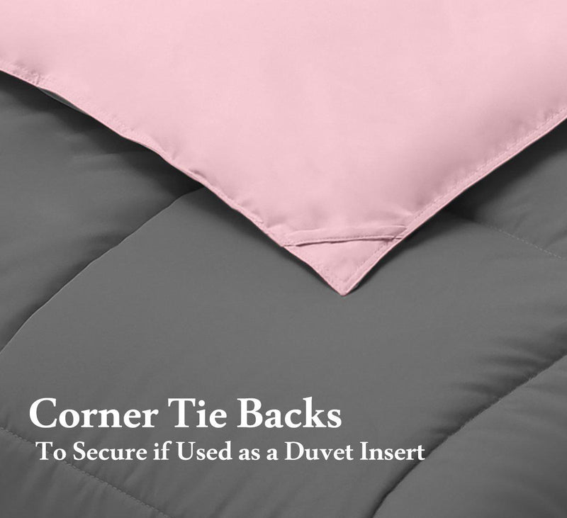 Reversible Plush Down Alternative Blanket-Royal Hotel Bedding-Egyptian Linens