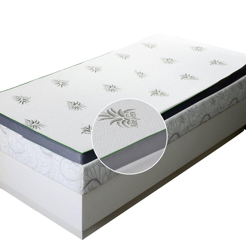 "Abripedic 2.5"" Gel Memory Foam Mattress Topper-Abripedic-Twin-Egyptian Linens"