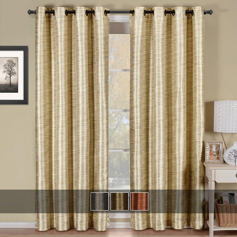 Geneva Lined Energy Saving Black-Out Grommet Curtain Panel Single-Royal Tradition-Egyptian Linens