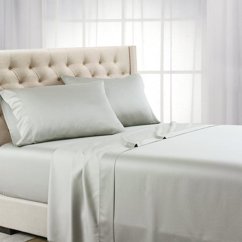 Luxurious Cooling Sheet Set - Eucalyptus 600 Tencel Lyocell-Abripedic-Twin XL-Gray-Egyptian Linens
