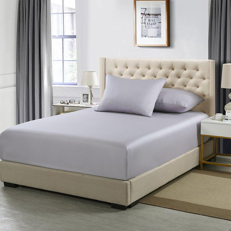 Flex King Fitted Sheet Only - Eucalyptus 600 Thread Count-Abripedic-Iris-Egyptian Linens