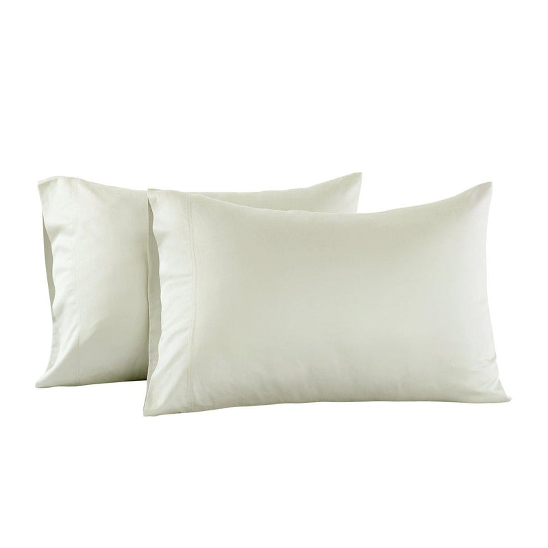 Eucalyptus 600 Tencel Loycell Pillowcases (Pair)-Abripedic-Standard Pillowcases Pair-Ivory-Egyptian Linens