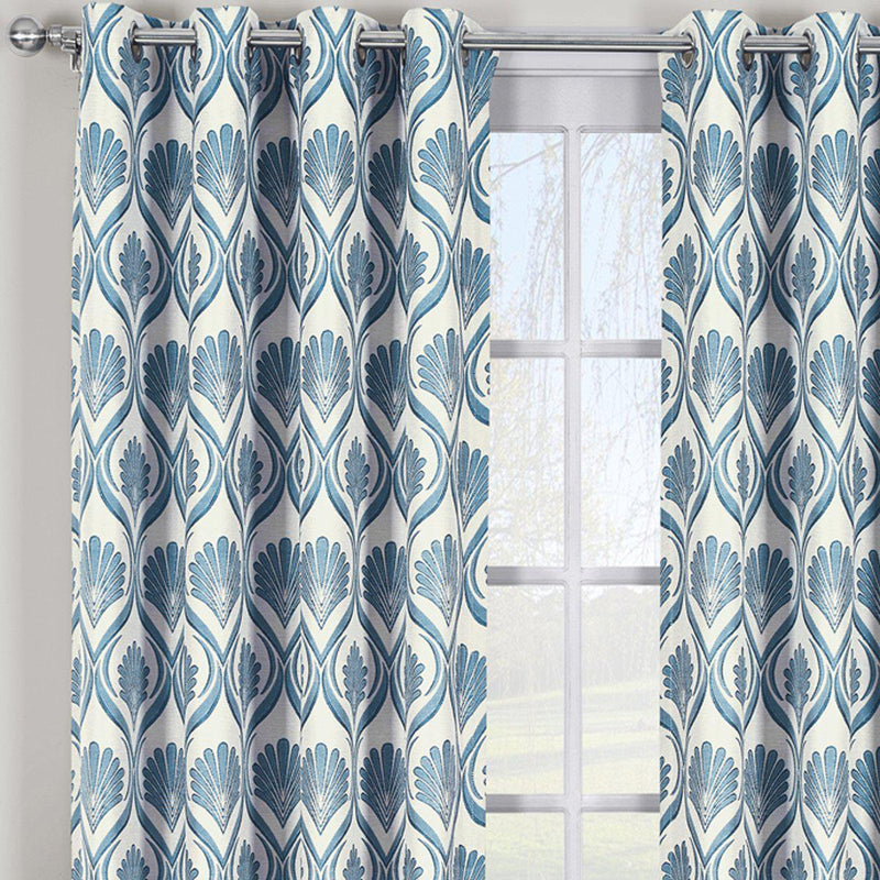 Modern Jacqueline Jacquard Drapes Grommet Top (Set of 2 Panels)-Royal Tradition-Egyptian Linens