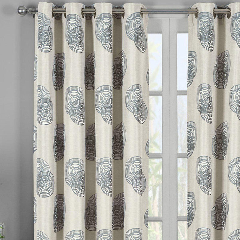 Lafayette Modern Abstract Jacquard Curtain Panels With Grommets ( Set of 2 Panels )-Royal Tradition-Egyptian Linens