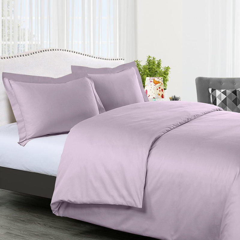 Duvet Cover Set Solid 300 Thread count-Royal Tradition-Twin/Twin XL-Lilac-Egyptian Linens