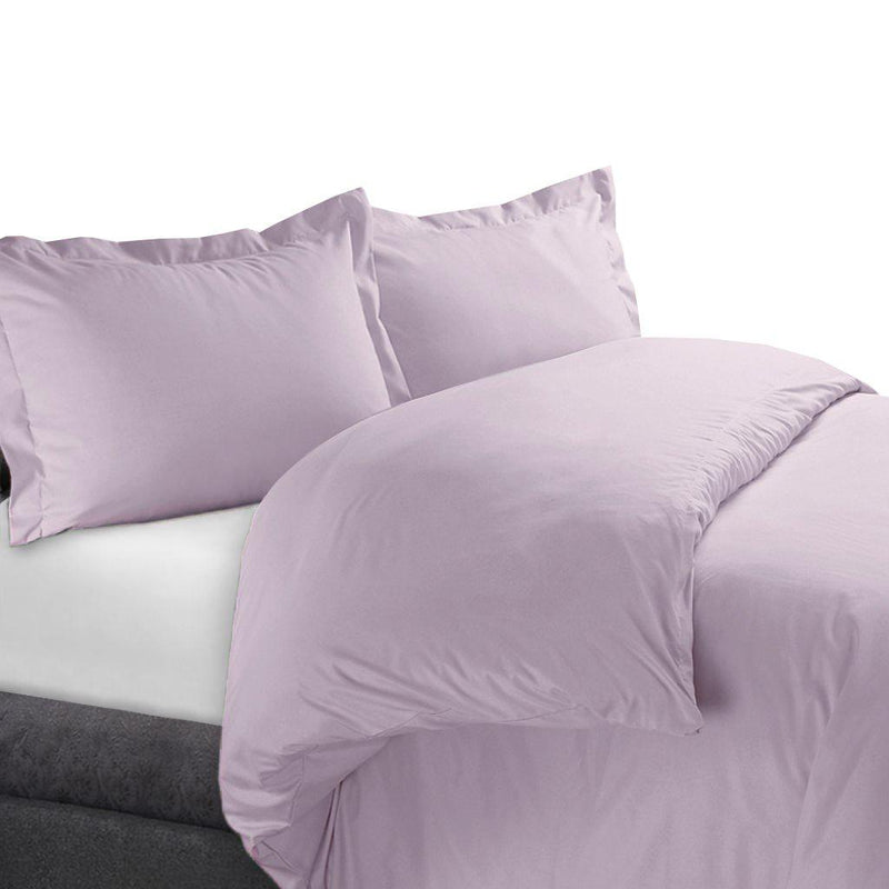 Duvet Cover Set 450 Thread Count-Royal Tradition-Full/Queen-Lilac-Egyptian Linens