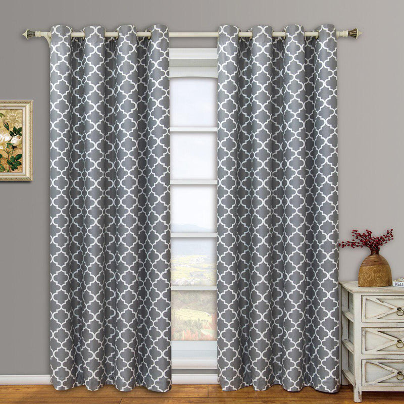 "Gray Meridian Room-Darkening Thermal Insulated Curtain Pair (Set of 2 Panels)-Royal Tradition-63""-Egyptian Linens"