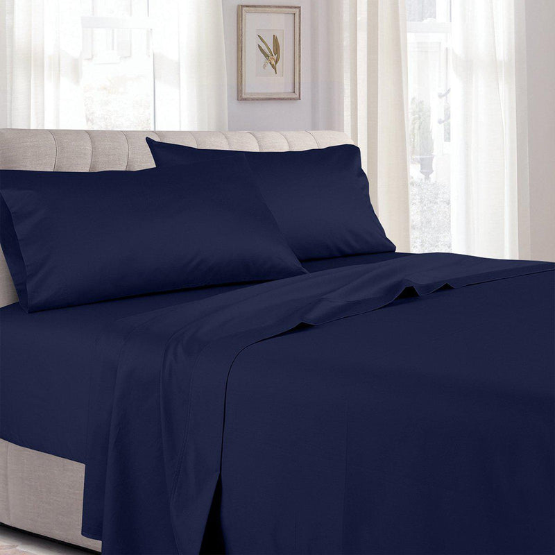 Split Adjustable Dual King Sheets - Solid 300 Thread count