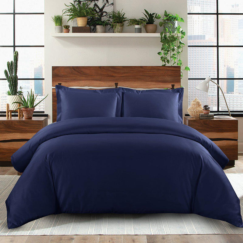 Duvet Cover Set Solid 600 Thread Count