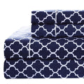 Meridian Percale Sheet Set-Royal Tradition-Twin XL-Navy & White-Egyptian Linens