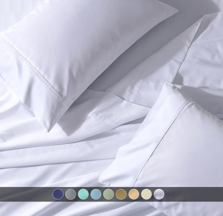 Crisp & Cool Percale Sheet Set - Extra Deep Fitted (22-Inches)-Abripedic-Egyptian Linens