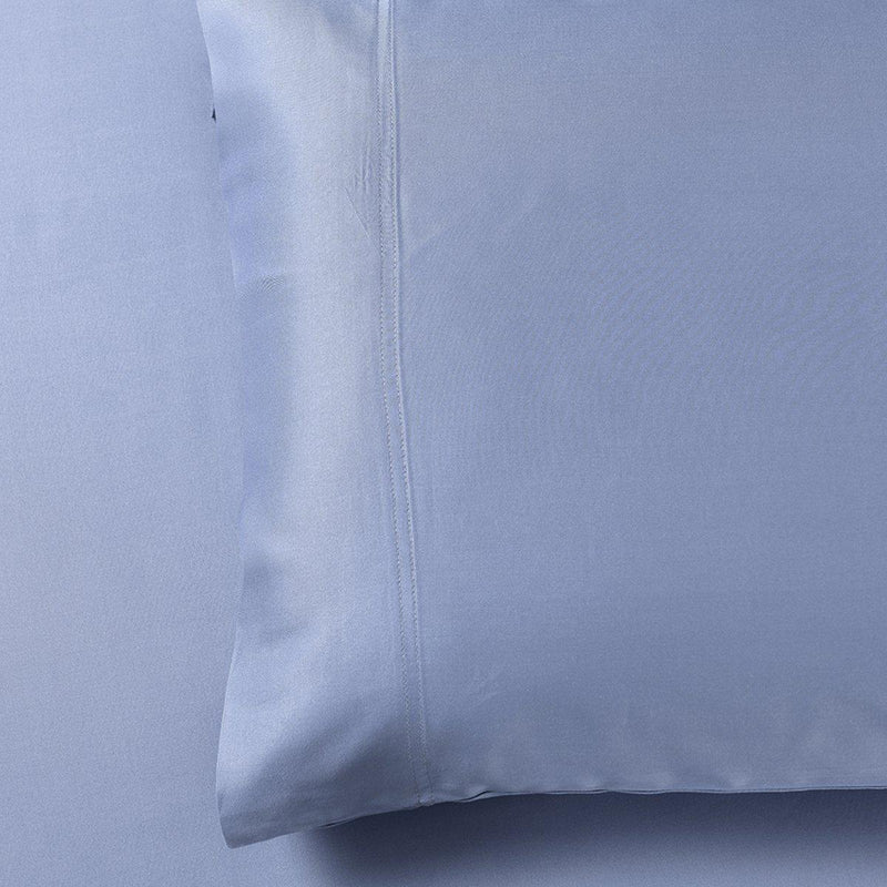 Silky Cotton, Bamboo-Cotton Blended 2 Pillowcases (Hybrid)-Royal Tradition-Standard Pillowcases Pair-Periwinkle-Egyptian Linens