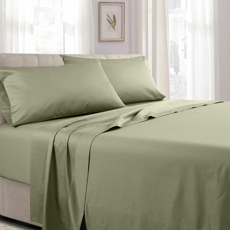 Attached Waterbed Sheet Set - Solid 300 Thread Count
