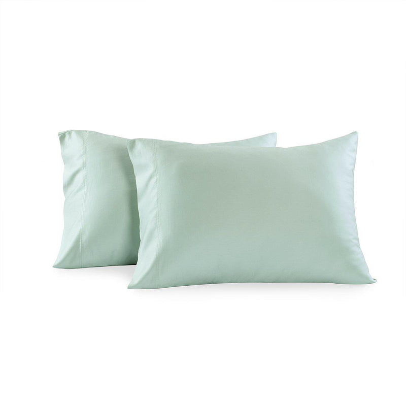 Eucalyptus 600 Tencel Loycell Pillowcases (Pair)-Abripedic-Standard Pillowcases Pair-Sea-Egyptian Linens