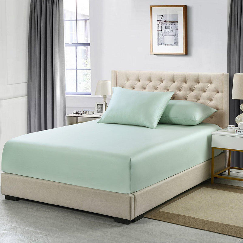 Flex King Fitted Sheet Only - Eucalyptus 600 Thread Count-Abripedic-Sea-Egyptian Linens