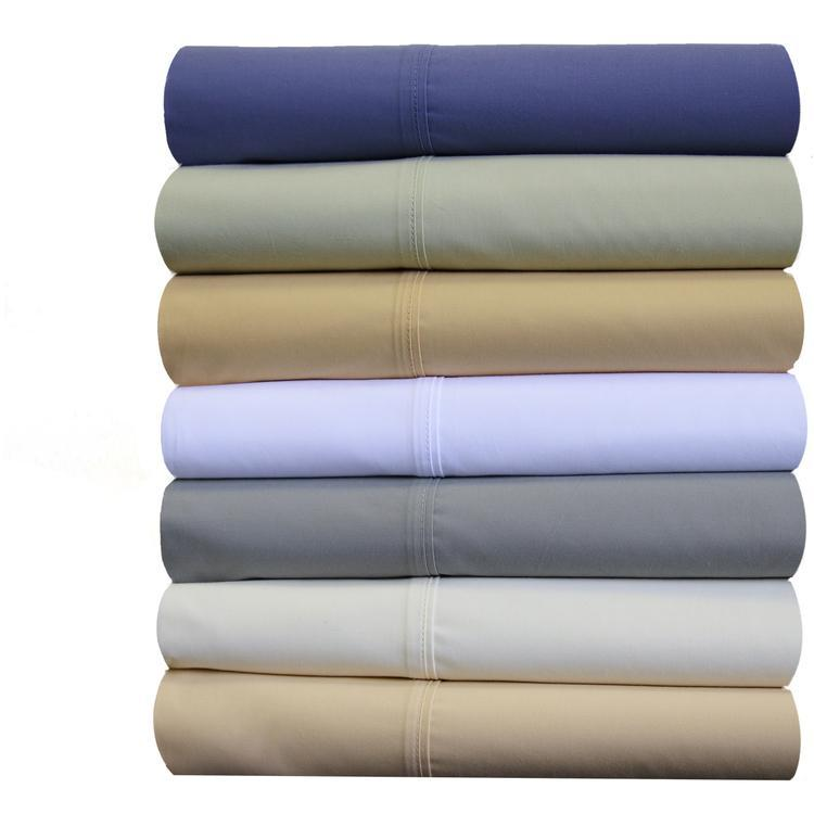 Split Cal-King Sheet Set - Percale Crispy Soft Sheet Set-Abripedic-Egyptian Linens
